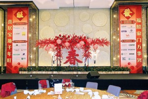 Chinese New Year Stage Backdrop