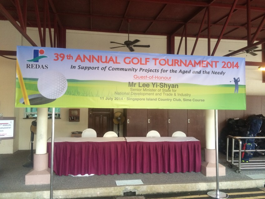 Redas Golf Tournament Welcome banner 2014